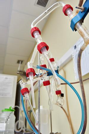biochemical: Equipment in the biochemical laboratory Stock Photo