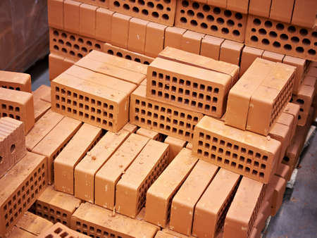warehouse building: Building bricks in the warehouse in the shop
