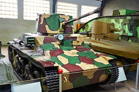 vickers: British light tank Vickers- Armstrong. 1936. Museum Kubinka in Moscow