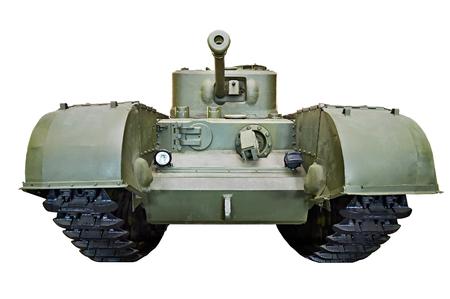 mk: British heavy infantry tank Mk IV (A22) Churchill 1941 isolated white