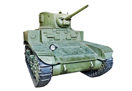 gunfire: American light tank M3 Stuart 1940 isolated white