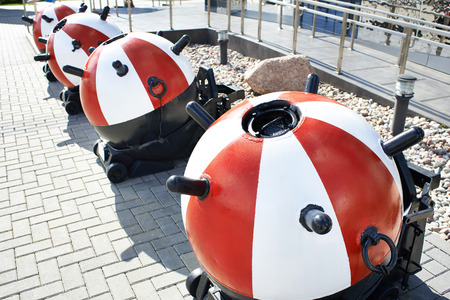 latent: Training sea mines at the exhibition