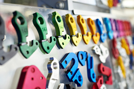 Interchangeable colorful tips for bicycle frames in shop