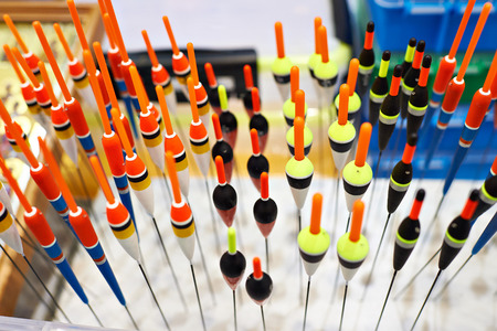 choise: Fishing floats in a sports shop