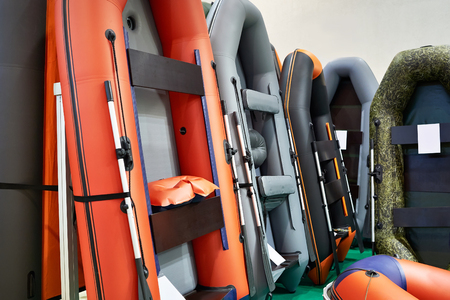 Rubber inflatable boats for fishing in the sport store