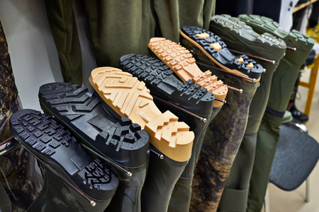 lugs: Rubber swamp boots for fishing in the store