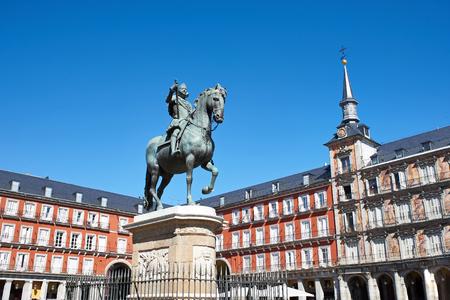 Statue of Philip III on Plaza Mayor, Madrid