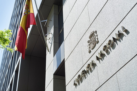 Building of Audiencia Nacional. Spain