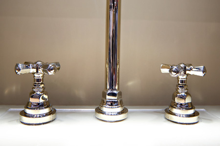 modern bathroom: Water tap with hot and cold water