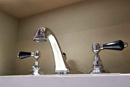 stainless: Water tap faucet with hot and cold water