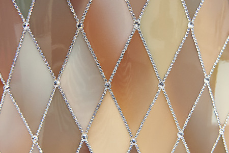 Background with rhombus patterns and rhinestones Stock Photo - 83817150