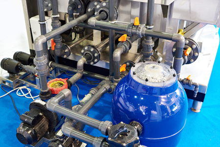 Pipes, filters and equipment for swimming pools
