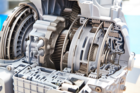 Gears of automatic transmission in section Stok Fotoğraf - 88791744