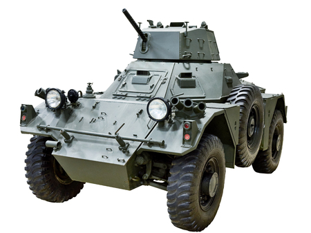 Ferret armoured car isolated