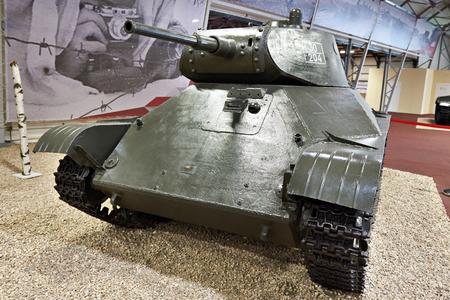 KUBINKA, RUSSIA - JUL 11, 2017: Military-technical museum. Soviet light tank T-50 Editorial