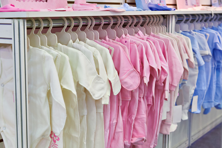 Rompers and bodysuits for newborns in the store