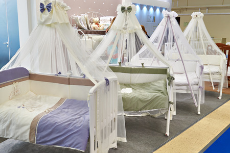 Baby beds with canopies in store