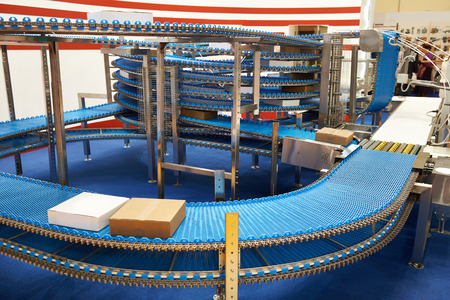 Conveyor belt to move around the factory goods