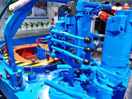 Hydraulic torque wrench for oil and gas industry at exhibition
