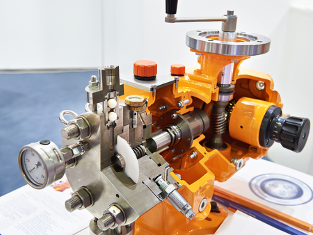 Hydraulic Diaphragm Metering Pump in section