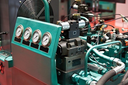 Hydraulic Aggregates for the individual drive of working bodies of hydraulic presses Stockfoto