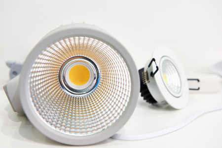 LED lamps with reflectors for illumination embedded 写真素材