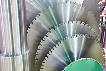 Huge disks for industrial circular saws