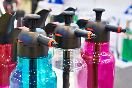 Colorful plastic household sprays water