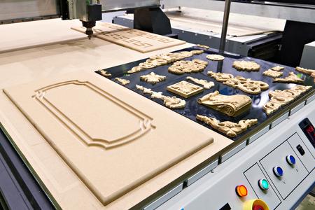 Industrial milling engraving machine closeup
