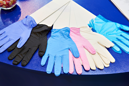 Medical nitrile powder free gloves in store