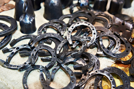 Forged metal goods on the market counter