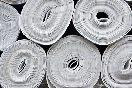 Rolls of heat-insulated foil insulation of walls