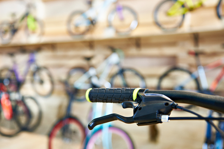 Bicycle handlebar in a sports shop