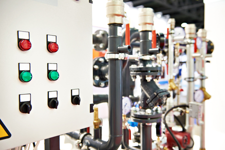 Industrial equipment and control panel Stock Photo