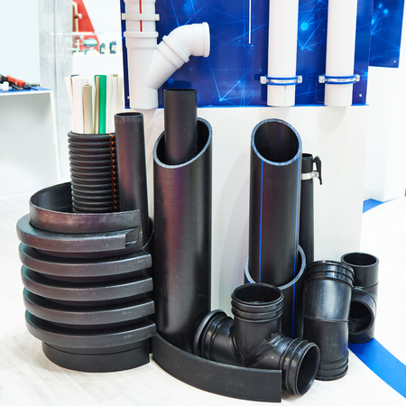 Plastic pipes for industrial water supply and heating mains