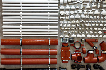 PVC fittings and plastic pipes for water plumbing heating sewer  system