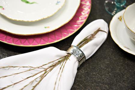 Lavender flowers on a napkin