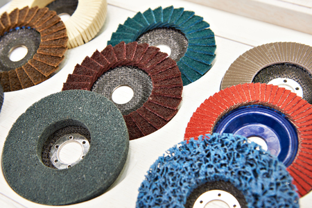 Grinding and polishing disc for angle grinder in store