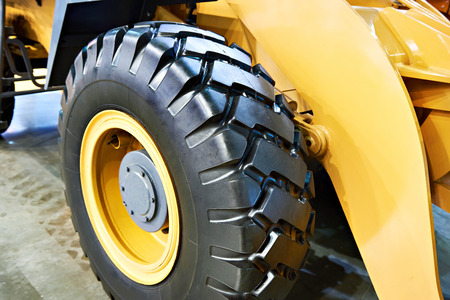 Tire of new front loader