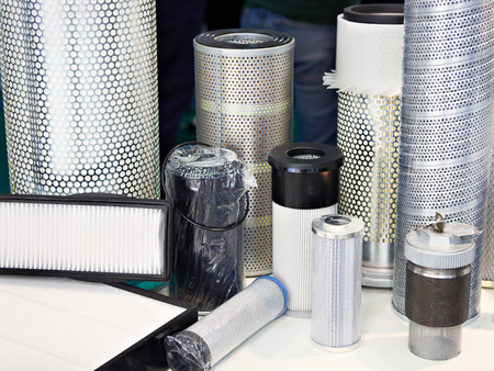Filter elements on the exhibition stand of the store