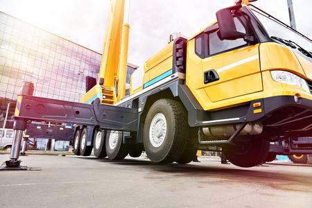 Mobile crane off-road capability in exhibition