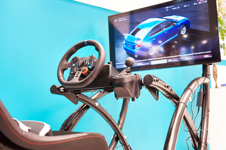 Modern racing simulator and monitor