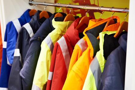 Jackets for workwear for builders and manufacturers Banque d'images