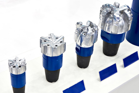 Drill bits for oil wells on exhibition