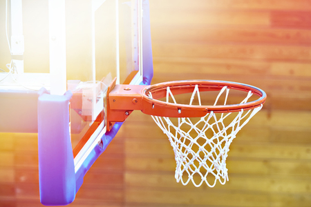 Basketball basket in the gym Stockfoto - 109915116