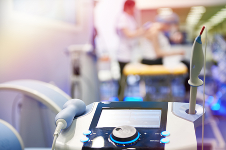 Medical equipment for laser and shock wave therapy in clinic