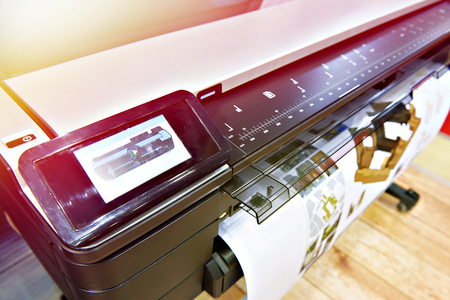 Large format printing on a color plotter
