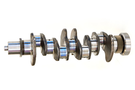 Crankshaft for car isolated
