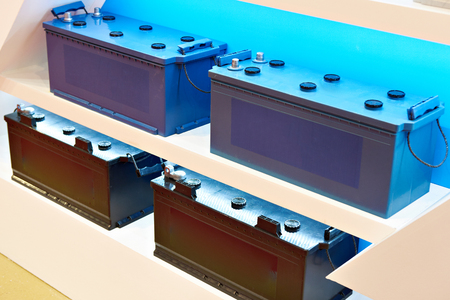 Starter batteries for truck in store