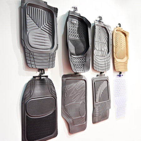 Rubber mats for car interiors